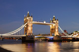 Tower Bridge on the River Thames on a London evening