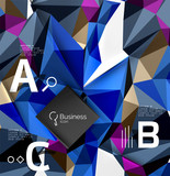 Triangle mosaic vector abstract template