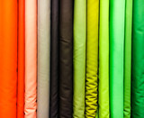 Fototapety colorful fabrics selection