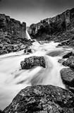Iceland, waterfall, landscape, nature, mountain