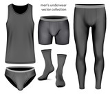 Underwear vector collection for men