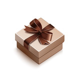 Gift with brown bow