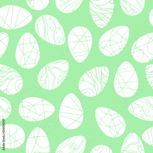 Cotton fabric Vector seamless pattern with Easter eggs