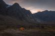 Base camp in Auyuittuq National Park scenery, Nunavut, Canada.