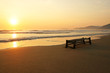 Quadro Landscape of paradise tropical island beach sunrise