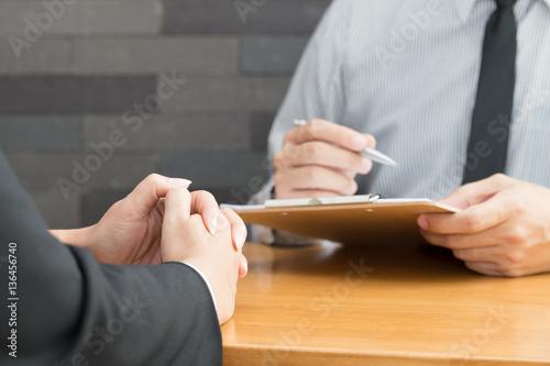 Job interview, Hiring concept