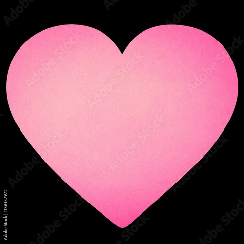 Foto op Canvas Candy roze Hearts on Valentine's Day