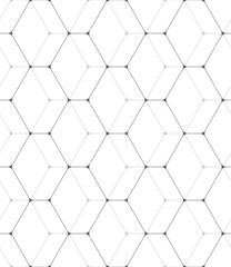 Vector seamless pattern. Modern stylish texture. Geometric pattern with hexagonal tiles