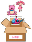 Box for pink toys
