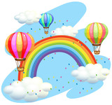 Balloons flying over the rainbow
