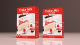 Cake mix paper packages. 3d illustration