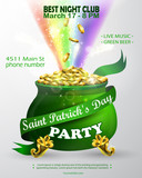 Vector St. Patrick s Day poster design templat