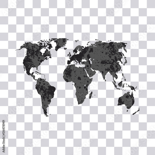 World map isolated on transparent background earth modern grunge world map isolated on transparent background earth modern grunge world map vector gumiabroncs Image collections