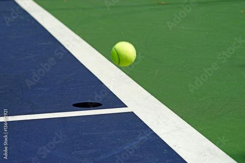 moving tennis ball