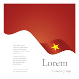 New brochure abstract design modular single pattern of wavy flag ribbon of Vietnam