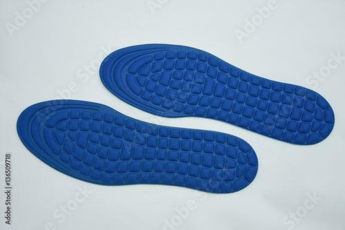 Deurstickers Pedicure blue rthopedic insoles