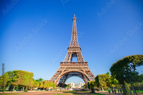 Beautiful view of Eiffel Tower in Paris Poster