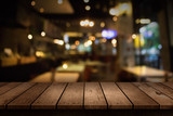 Fototapety Blur coffee shop or cafe restaurant with abstract bokeh light