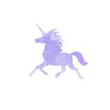 Unicorn  watercolor silhouettes icon  - 136522758