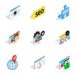 Analytics search information icons