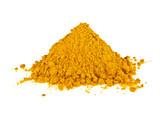 Turmeric powder isolated on white background. Curcuma powder. - 136530964