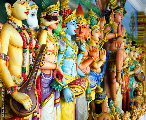 Foto op Canvas Kuala Lumpur Sri Mahamariamman Indian Temple in Kuala Lumpur, Malaysia, Asia