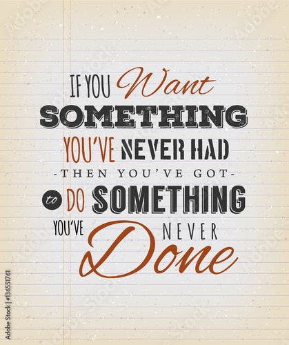 Fotobehang Retro Inspirational Quote On Vintage School Paper