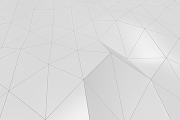 Bright low poly displaced surface with glowing connecting lines
