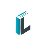 Initial Letter IL Book Design Logo Law