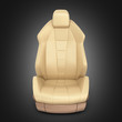 Car seat on black gradient background 3d
