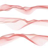 Onde astratte rosse, arte di linee ondulate sullo sfondo bianco, file vettoriale - 136582551