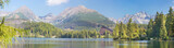 High Tatras - The panorama of Strbske Pleso lake
