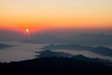 sunrise  on  mountain in Laos people's democratic  republic  ,