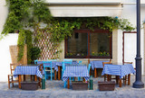 Cafe in Larnaca during Summe - 136590184