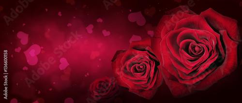 Staande foto Roses Herz und Liebe Motiv