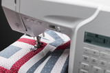 Sewing machine with quilt - 136613704