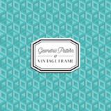 Geometric Pattern & Vintage Frame