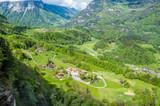 Swiss village at Alps