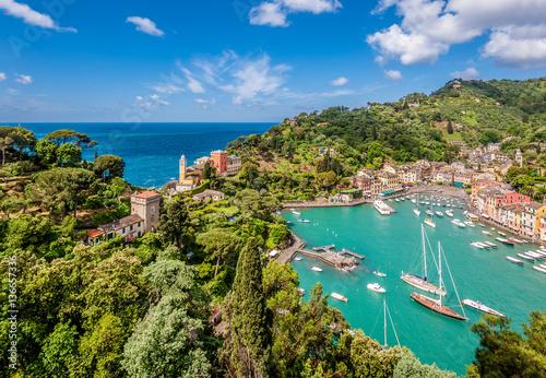 Foto op Plexiglas Liguria Portofino village on Ligurian coast, Italy