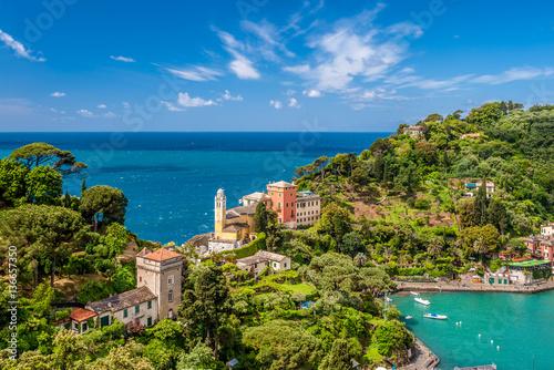 Portofino village on Ligurian coast, Italy Poster