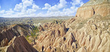 Red valley and rocks    in Cappadocia, Central Anatolia,Turkey