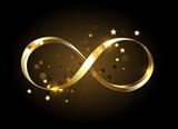 Golden infinity symbol - 136672119