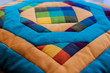 Постер, плакат: Lovely shot of pillow created by patchwork technique Pillow from my Grandma