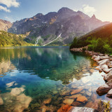 Fototapety Lake high in the Tatras Sea Eye. Poland