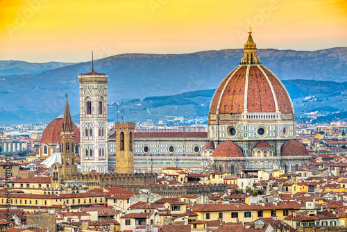 Florence, Duomo and Giotto's Campanile. Poster