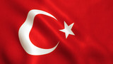 Turkey Flag - Turkish Waving Background