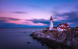 Portland Head Lighthouse with long exposure