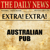 australian pub, article text in newspaper