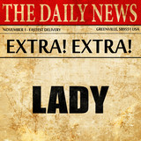 lady, article text in newspaper