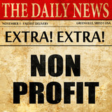 non profit, article text in newspaper